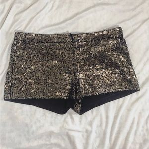 LIKE NEW Express gold sequin shorts size 10